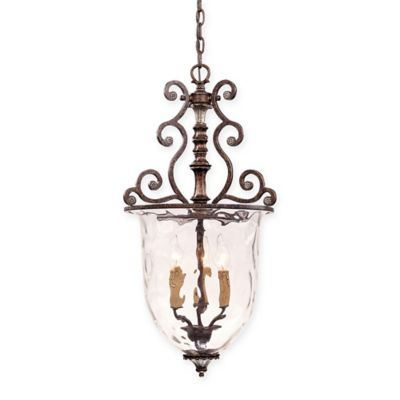 Savoy House St. Laurence 3-Light Pendant in Brown/Silver