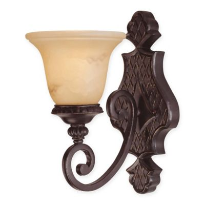 Savoy House Knight Wall Sconce in Antique Copper with Glass Shade