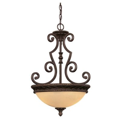 Savoy House Knight 2-Light Bowl Pendant in Antique Copper