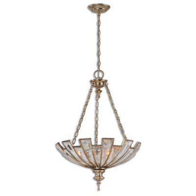 Uttermost Vincentina 3-Light Pendant in Silver Champagne