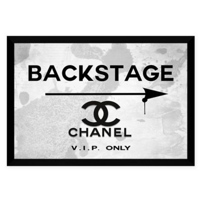 BY Jodi Backstage Chanel Framed Wall Art on High-Gloss White Aluminum