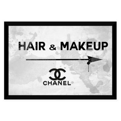 BY Jodi Hair and Makeup Chanel High-Gloss White Aluminum Wall Art