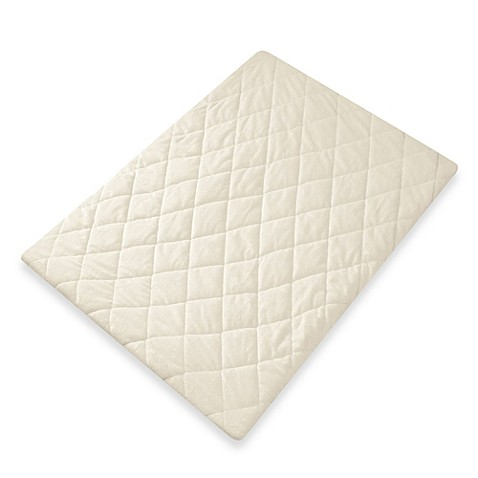 Quilted Velboa Sage Play Yard Sheet by Eddie Bauer®