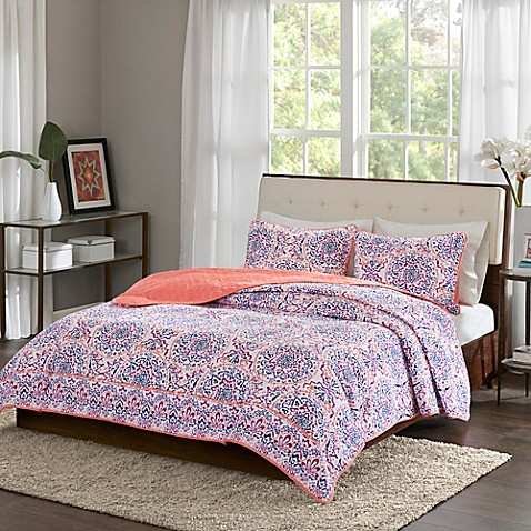 Buy Intelligent Design Zoe Twin Twin Xl Quilt Set In Coral