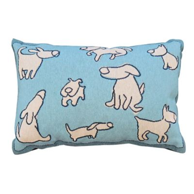 Park B. Smith® Vintage House Dog Group Oblong Throw Pillow in Aquamarine