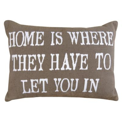 "Park B. Smith® The Vintage House ""Home is Where"" Oblong Throw Pillow in Linen"