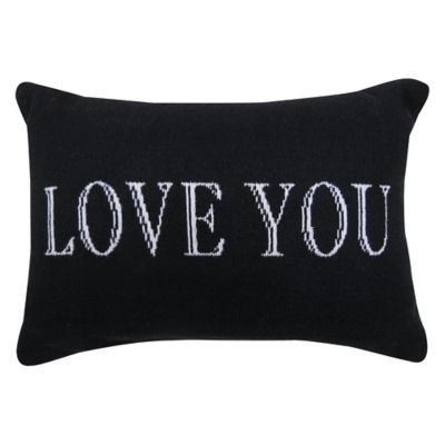 """Park B. Smith® The Vintage House """"Love You"""" Oblong Throw Pillow in Black/White"""