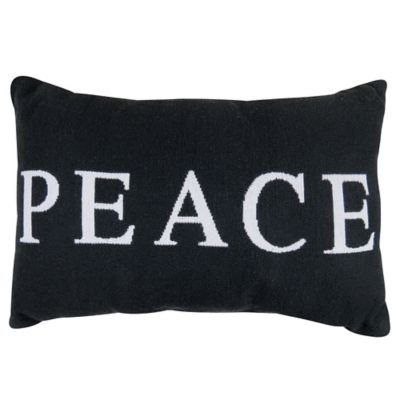 "Park B. Smith® The Vintage House ""Peace"" Oblong Throw Pillow in Black/White"