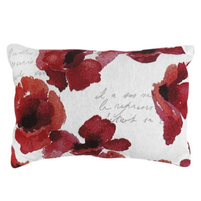 Park B. Smith® The Vintage House Poppy Script Throw Pillow in Red/White