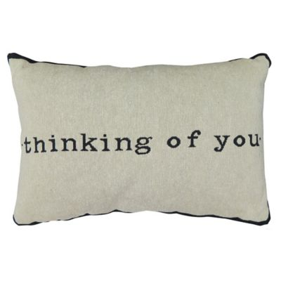 "Park B. Smith® The Vintage House ""Thinking of You"" Oblong Throw Pillow in Natural"