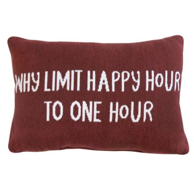 """Park B. Smith The Vintage House """"Why Limit"""" Oblong Throw Pillow"""