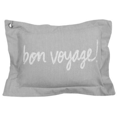 """Bon Voyage"""" Oblong Throw Pillow Throw Pillows"""