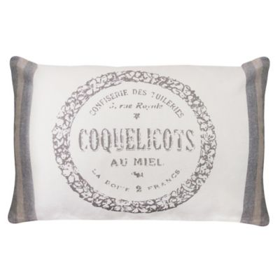 Park B. Smith® The Vintage House Coquelicots Oblong Throw Pillow in Natural