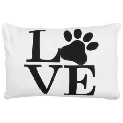 Park B. Smith® Vintage House Love Pet Oblong Throw Pillow in White/Black