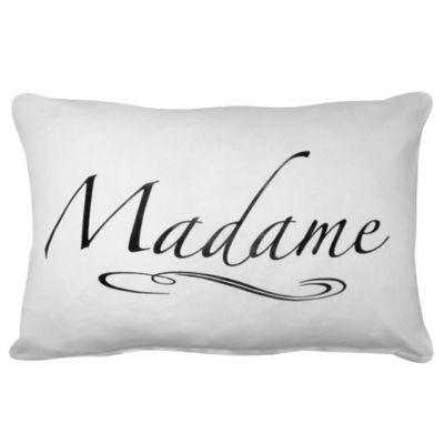 "Park B. Smith® Vintage House ""Madame"" Oblong Throw Pillow in White"