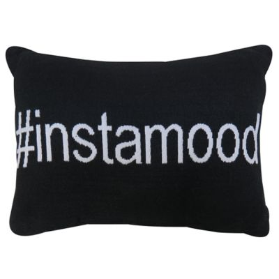 """Park B. Smith® Vintage House """"Instamood"""" Oblong Throw Pillow in Black"""