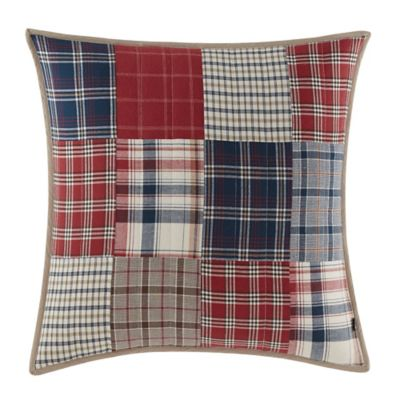 Nautica® Ansell Square Throw Pillow in Red