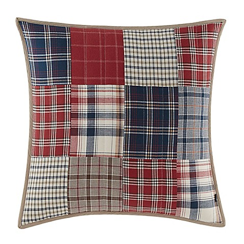 Nautica Ansell Square Throw Pillow in Red - Bed Bath & Beyond