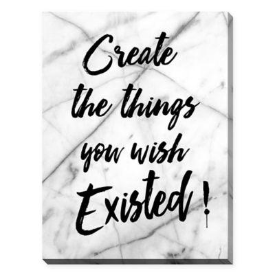 """BY Jodi """"Create"""" 30-Inch x 40-Inch Canvas Wall Art"""