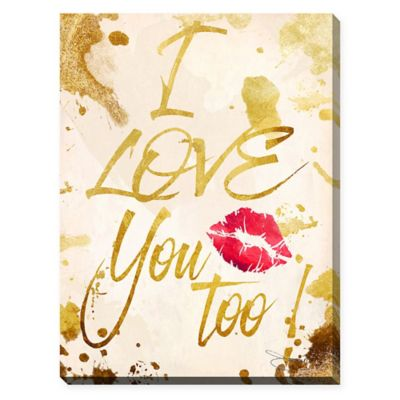 """BY Jodi """"I Love You Too"""" 24-Inch x 30-Inch Giclee Stretched Canvas Wall Art"""