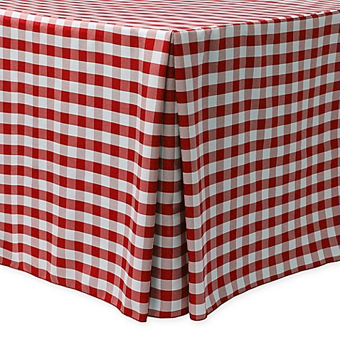Gingham Poly Check Indoor Outdoor Fitted Tablecloth Www