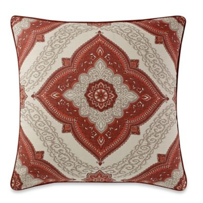 Make-Your-Own-Pillow Medallion Square Pillow Cover in Burgundy