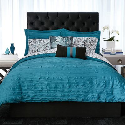 Gray Teal Comforter Set