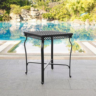 Crosley Portofino Patio Bar Height Bistro Table in Black