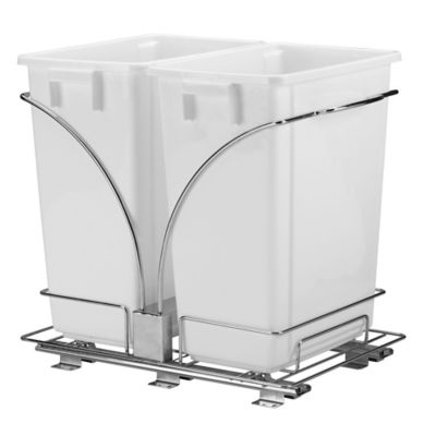 Household Essentials® Glidez Double 9-Gallon Pull-Out Trash Cans