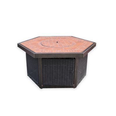 Bombay® Scottsdale Polygon Gas Fire Pit in Bronze