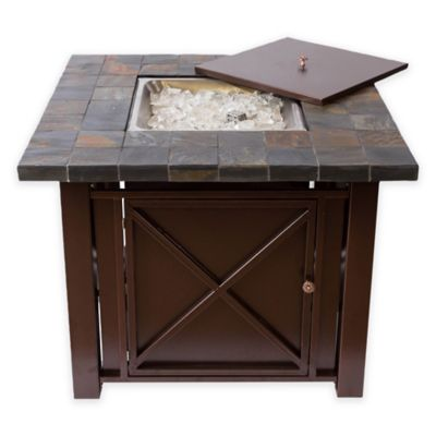 Bombay® Bronze Fire Pit Table with Slate Countertop