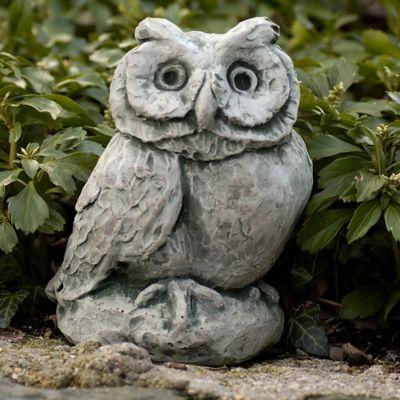 Campania Merrie Little Owl Garden Statue in Alpine Stone