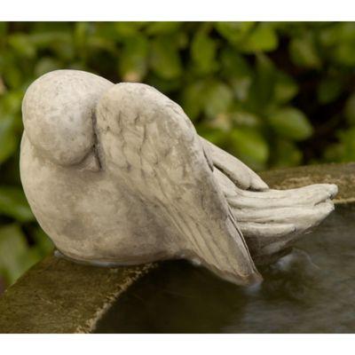 Campania Bathing Bird Garden Statue in Verde