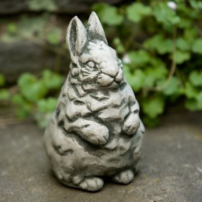 Campania Standing Bunny Garden Statue in Alpine Stone