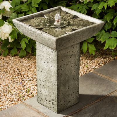 Campania Andra Birdbath Fountain in Alpine Stone