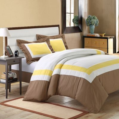 Chic Home Nora 7-Piece Queen Duvet Cover Set in Yellow