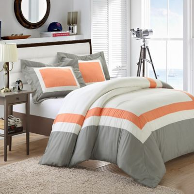 Chic Home Nora 7-Piece King Duvet Cover Set in Yellow