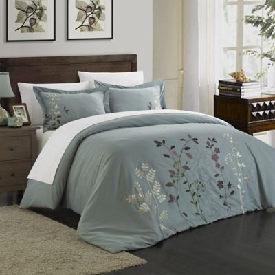 Chic Home Kathy 7-Piece King Duvet Cover Set in Green
