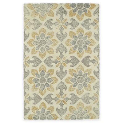 Kaleen Montage Floral 3-Foot 6-Inch x 5-Foot 6-Inch Accent Rug in Ivory