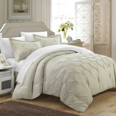 Chic Home Nica 3-Piece Queen Duvet Cover Set in Beige