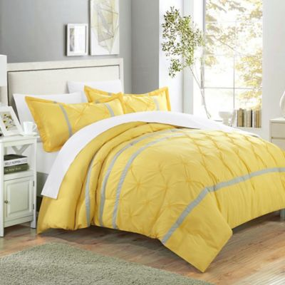 Chic Home Nica 3-Piece Queen Duvet Cover Set in Yellow