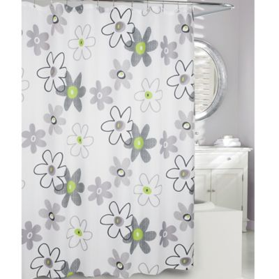 Black Fabric Shower Curtain