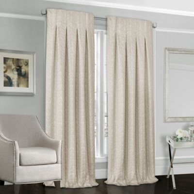 Designers' Select™ Peyton 95-Inch Back Tab Window Curtain Panel in Sand