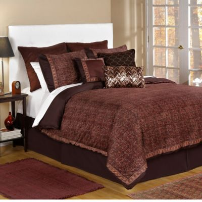 Bed Inc. Jade King Comforter Set in Brown