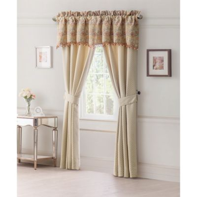 Waterford® Cathryn 84-Inch Lined Window Curtain Panel Pair in Linen