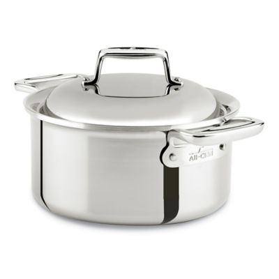 All-Clad d7 Stainless Steel 3.5 qt. Covered Round Oven