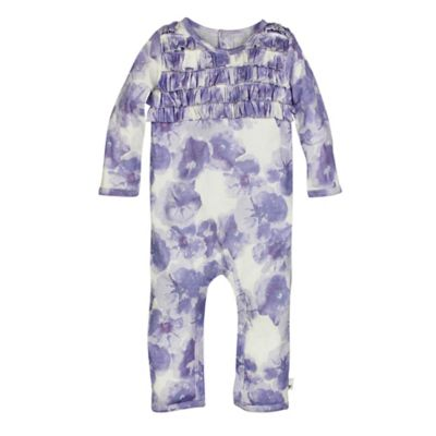 Burt's Bees Baby® Size 18M Petunia Organic Cotton Ruffle Footless Coverall in Purple