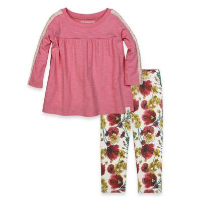Burt's Bees Baby® Size 24M 2-Piece Organic Cotton Crochet T-Shirt Dress and Floral Legging Set