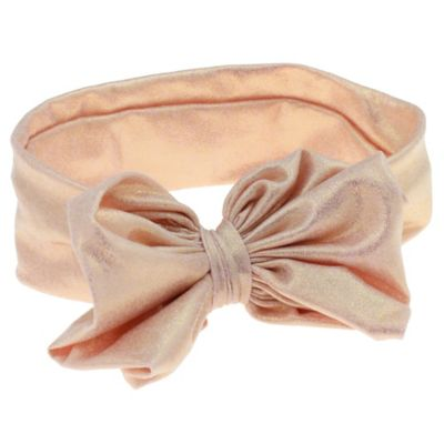 Capelli New York Metallic Bow Headwrap in Light Pink