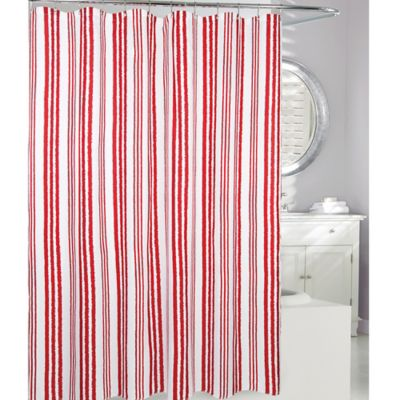 Buy Red Striped Shower Curtains From Bed Bath Amp Beyond
